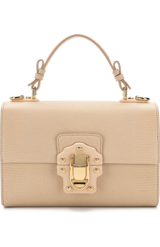 Купить Сумка Lucia Dolce & Gabbana, BB6260/A1095, Италия, Светло-бежевый, Кожа натуральная: 100%;