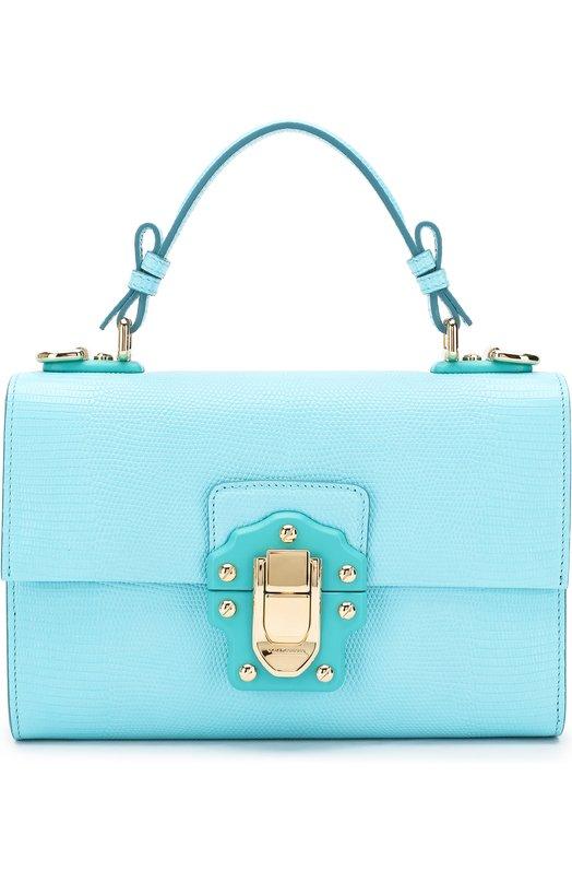 Купить Сумка Lucia Dolce & Gabbana, BB6260/A1095, Италия, Бирюзовый, Кожа натуральная: 100%;
