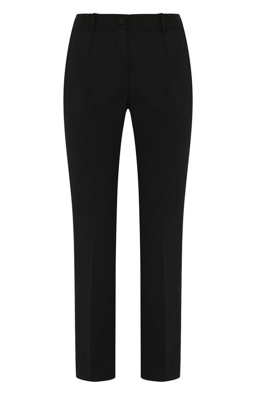 Купить Укороченные шерстяные брюки со стрелками Dolce & Gabbana, FTA9TT/FUBBG, Италия, Черный, Шерсть: 97%; Эластан: 3%;