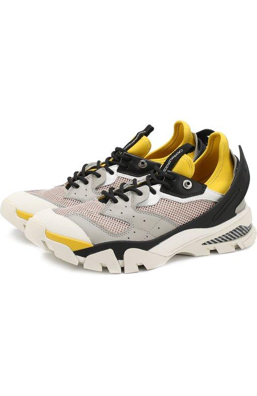 Купить Комбинированные кроссовки с декоративной отделкой CALVIN KLEIN 205W39NYC, K1014, Китай, Разноцветный, Полимер: 6%; Текстиль: 57%; Кожа: 37%; Подошва-резина: 100%; Подкладка-текстиль: 100%;
