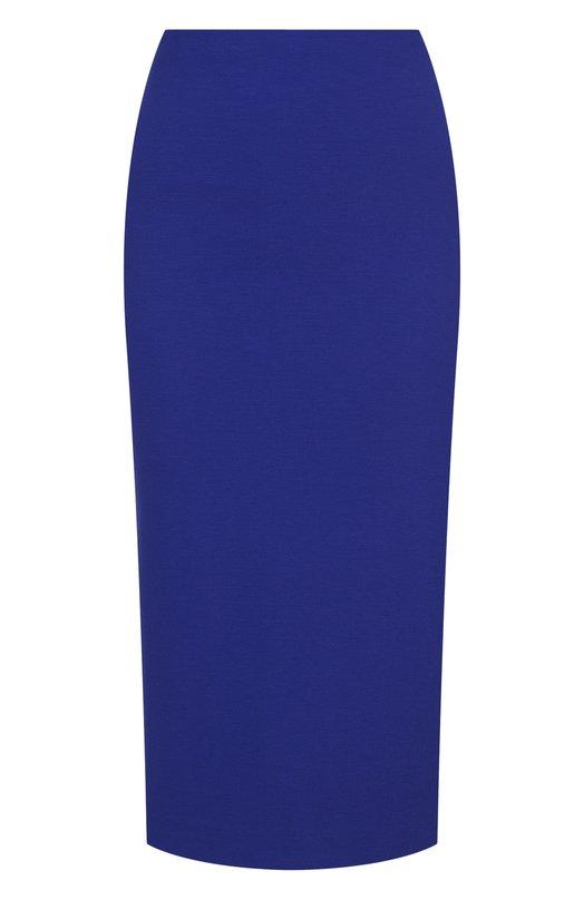 Купить Однотонная юбка-карандаш из вискозы M Missoni, QD0ML00521D, Румыния, Фиолетовый, Вискоза: 67%; Эластан: 5%; Полиамид: 28%;