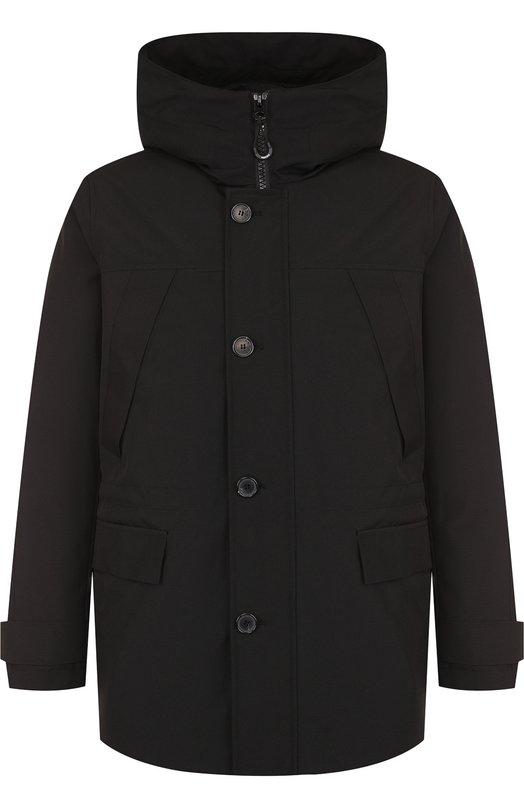 Купить Утепленная куртка на молнии с капюшоном Kenzo, 50U2181NK, Китай, Черный, Полиамид: 100%; Полиэстер: 100%; Подкладка-Текстиль: 100%;