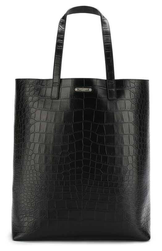 Купить Кожаная сумка-тоут Saint Laurent, 467946/DZE6E, Италия, Черный, Кожа: 100%;