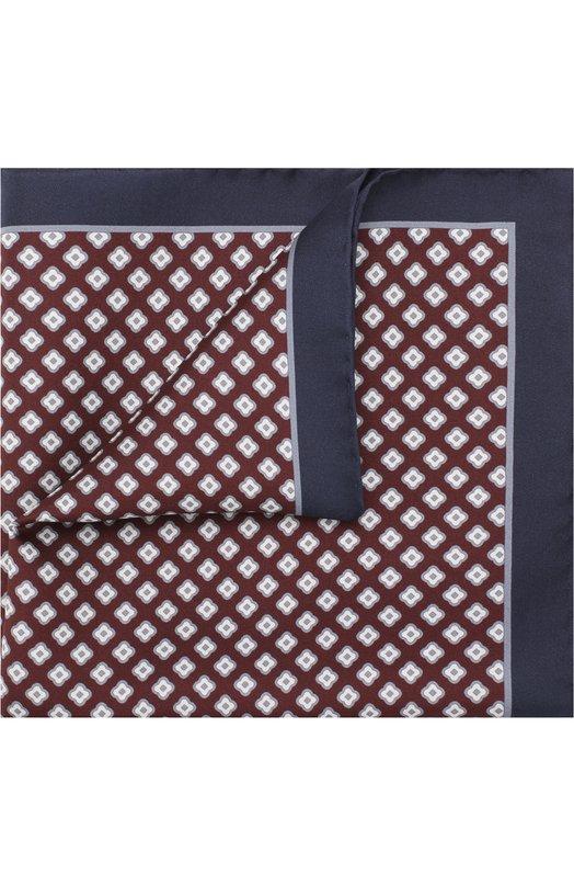 Купить Шелковый платок Kiton, UP0CHCX03R03, Италия, Бордовый, Шелк: 100%;