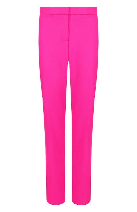 Купить Однотонные шерстяные брюки со стрелками Oscar de la Renta, 18FN301SWG, Италия, Фуксия, Шерсть: 98%; Эластан: 2%;