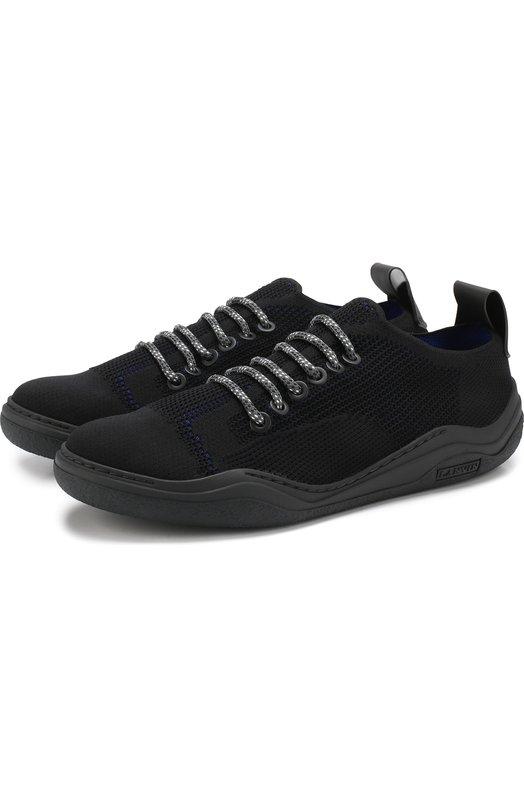 Текстильные кроссовки на шнуровке Lanvin