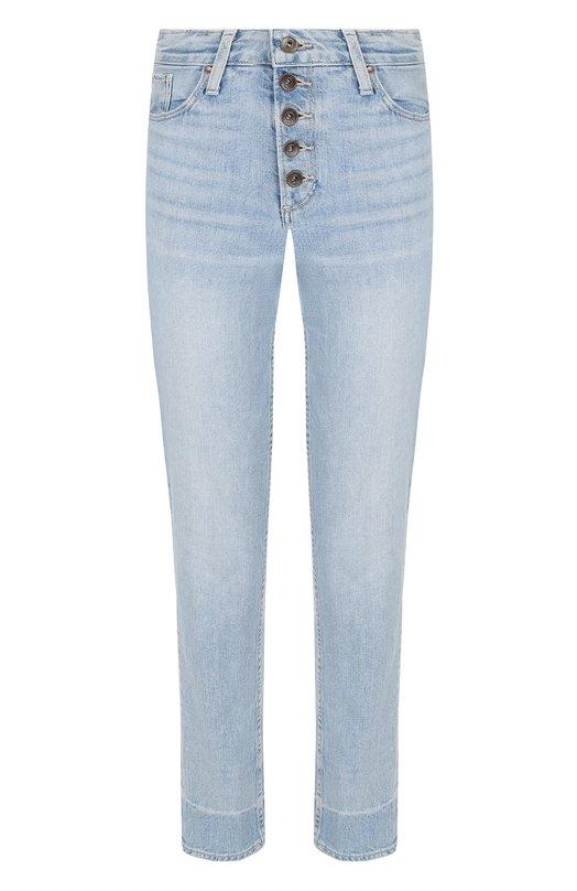 Купить Укороченные джинсы с потертостями Paige, 4593635-6002, США, Голубой, Хлопок: 98%; Эластан: 2%;