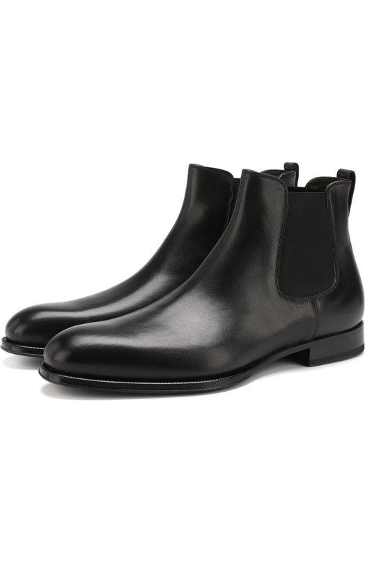 Купить Однотонные кожаные челси 7078 W.Gibbs, 7078003/FRENCH DEC0, Италия, Черный, Подошва-Кожа: 80%; Подошва-Резина: 20%; Подкладка-Кожа: 100%; Кожа: 100%;