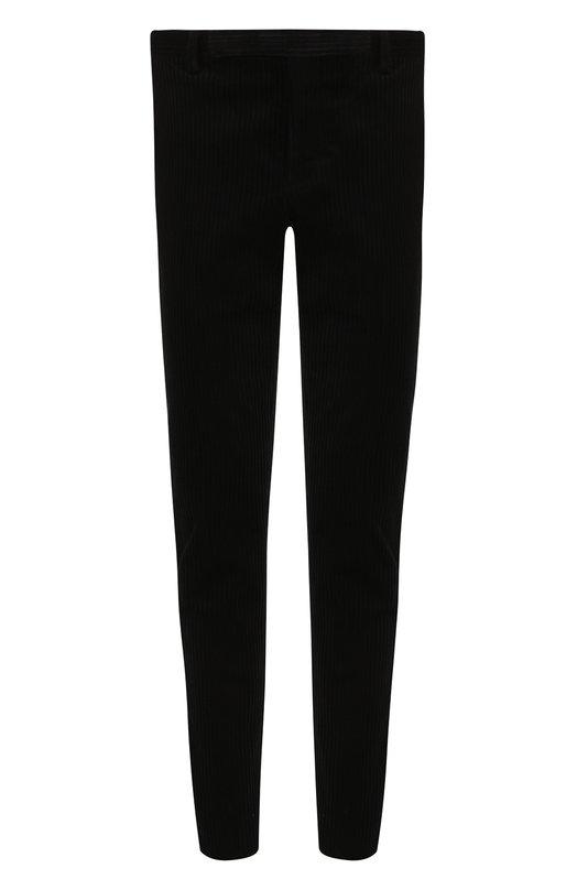 Купить Хлопковые брюки прямого кроя Saint Laurent, 530732/Y004R, Италия, Черный, Хлопок: 100%;
