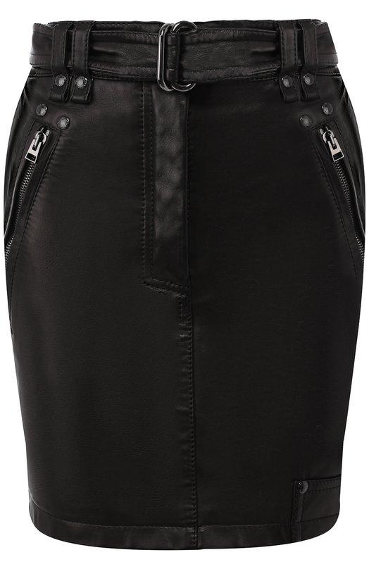 Купить Кожаная мини-юбка с поясом Tom Ford, GCL751-LEX194, Италия, Черный, Подкладка-шелк: 94%; Подкладка-эластан: 6%; Кожа: 100%;