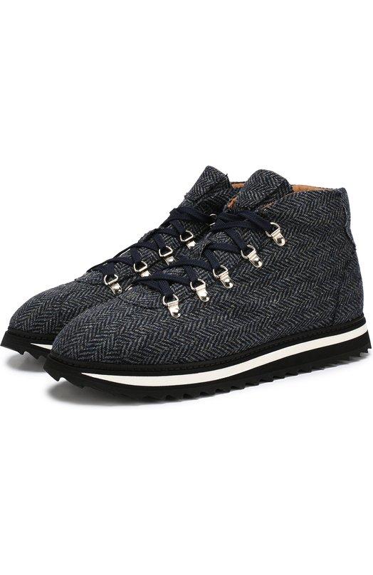 Текстильные ботинки на шнуровке Doucal's