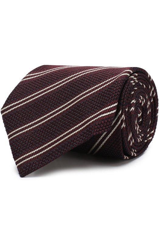 Купить Шелковый галстук с узором Tom Ford, 4TF10/XTM, Италия, Бордовый, Шелк: 100%;