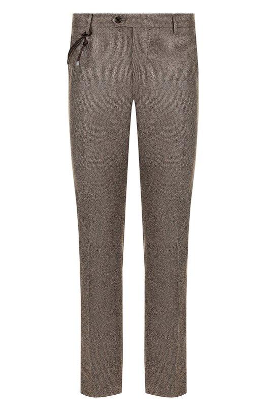Купить Шерстяные брюки прямого кроя Berwich, SC/1 ALC/VB4969, Италия, Светло-коричневый, Шерсть: 100%;
