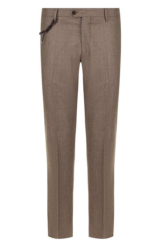 Купить Шерстяные брюки прямого кроя Berwich, SC/1 ALC/VB5991, Италия, Светло-коричневый, Шерсть: 100%;
