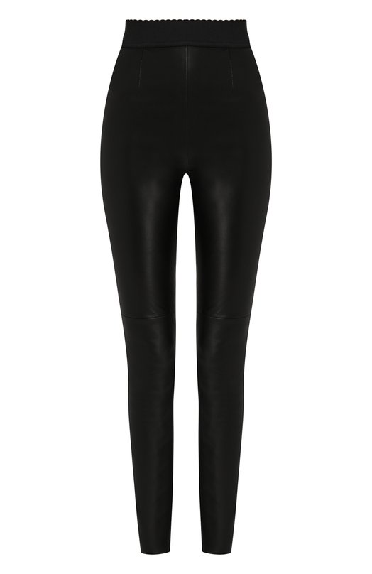 Купить Кожаные брюки с эластичным поясом Dolce & Gabbana, FTAHML/FUYA5, Италия, Черный, Кожа: 100%;