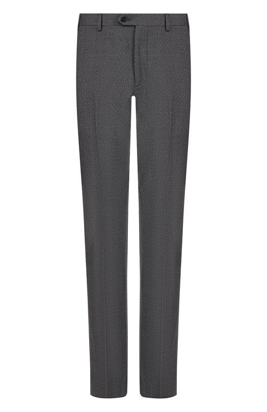 Купить Шерстяные брюки прямого кроя Emporio Armani, 11P0E0/11684, Болгария, Серый, Шерсть: 100%;