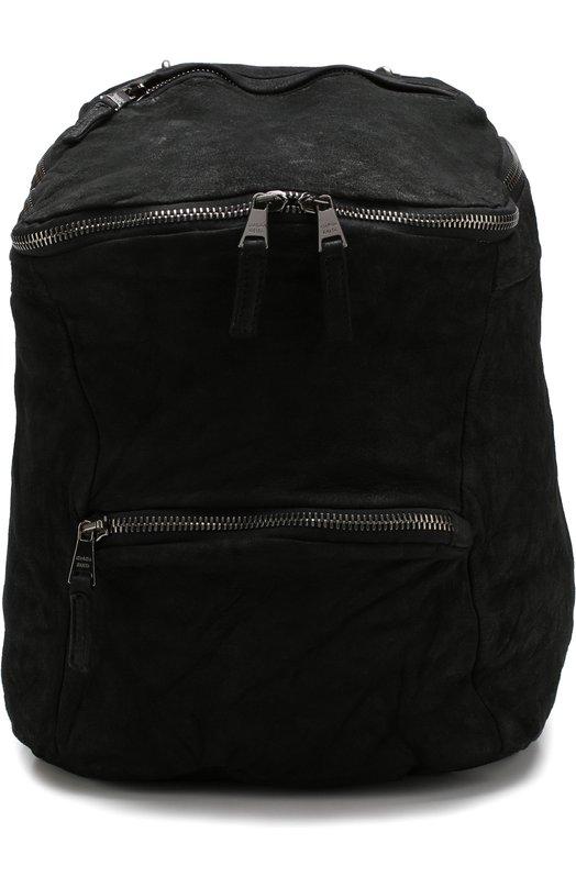 Купить Кожаный рюкзак с внешним карманом на молнии Giorgio Brato, BS19F2400V, Италия, Черный, Кожа: 100%;