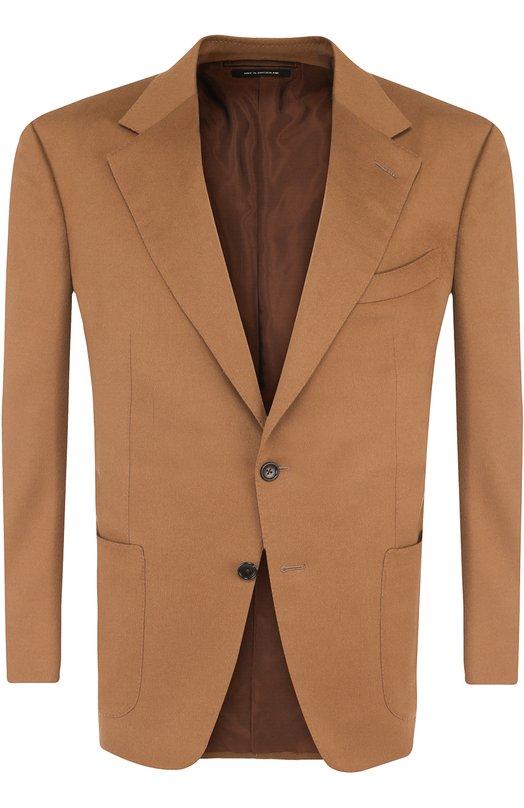 Однобортный пиджак из кашемира Tom Ford