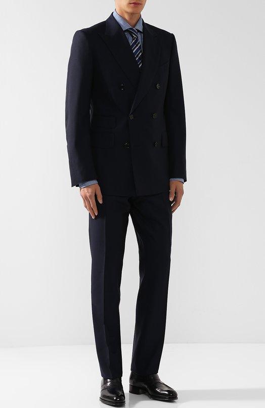 Шерстяной костюм с двубортным пиджаком Tom Ford