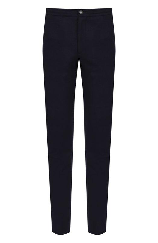 Купить Шерстяные брюки прямого кроя Ermenegildo Zegna, URI11/TT11, Румыния, Темно-синий, Шерсть: 100%;