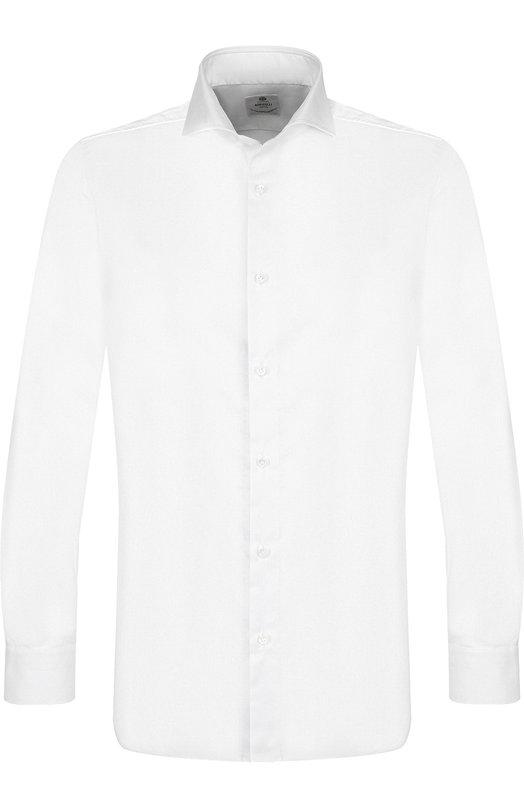 Купить Хлопковая сорочка с воротником акула Luigi Borrelli, EV08/TS6984/PT1, Италия, Белый, Хлопок: 100%;