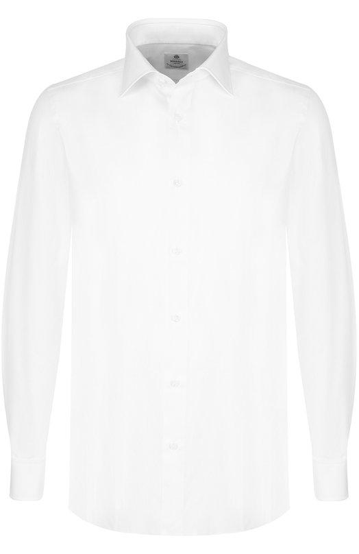 Купить Хлопковая сорочка с воротником кент Luigi Borrelli, EV08/TS6850/PD5, Италия, Белый, Хлопок: 100%;