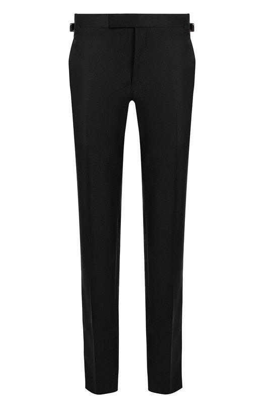 Купить Шерстяные брюки Tom Ford, 417R10/610048, Италия, Черный, Шерсть: 85%; Мохер: 15%;