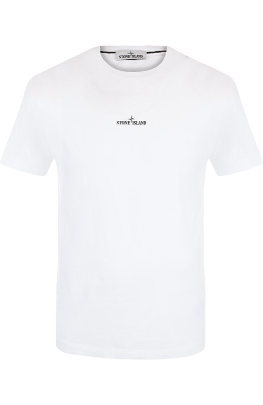 Купить Хлопковая футболка с принтом Stone Island, 69152NS81, Тунис, Белый, Хлопок: 100%;