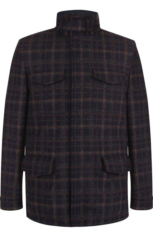 Купить Двусторонняя кашемировая куртка на молнии с воротником-стойкой Loro Piana, FAI2406, Италия, Синий, Кашемир: 100%;