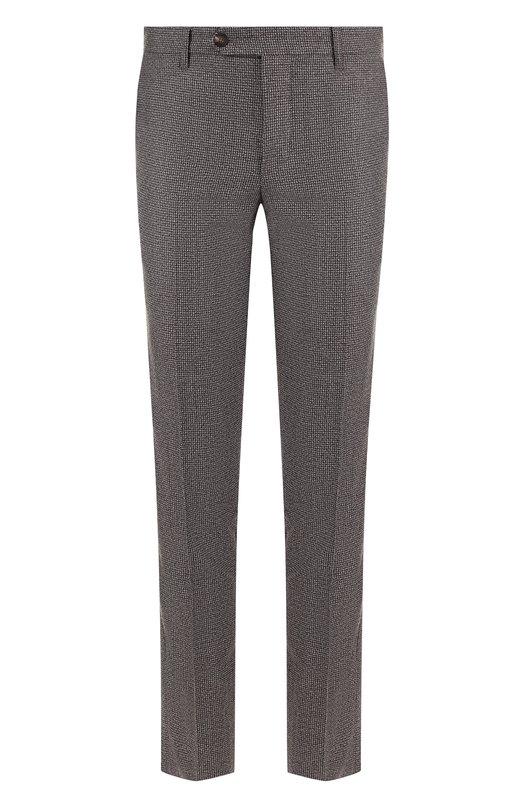 Купить Шерстяные брюки прямого кроя Pal Zileri, N31NR400---42173, Италия, Коричневый, Шерсть: 100%;