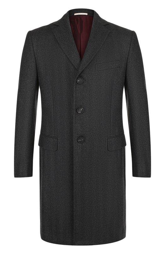 Купить Однобортное шерстяное пальто Pal Zileri, N39X003W---42381, Италия, Серый, Шерсть: 100%;