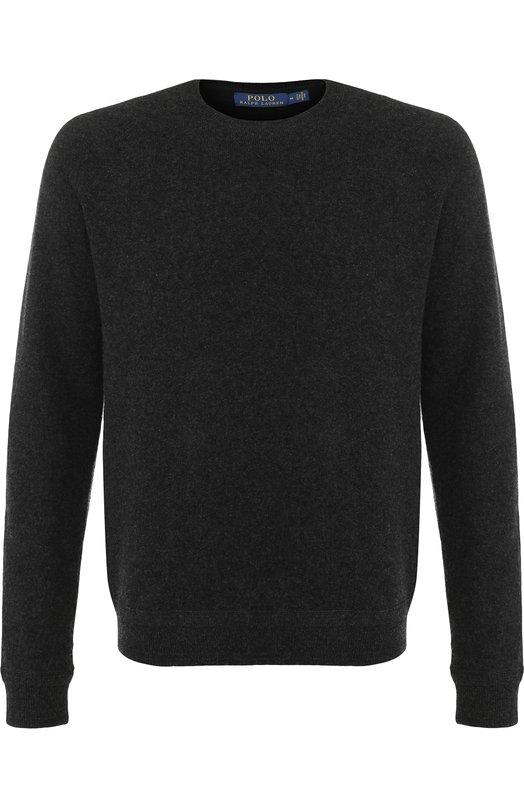 Купить Шерстяной джемпер тонкой вязки Polo Ralph Lauren, 710669738, Китай, Темно-серый, Шерсть: 100%;