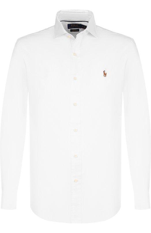 Купить Хлопковая сорочка с воротником кент Polo Ralph Lauren, 710723600, Китай, Белый, Хлопок: 100%;