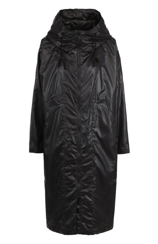 Купить Пальто свободного кроя на молнии с капюшоном Yohji Yamamoto, FI-C53-900, Япония, Черный, Полиэстер: 100%;