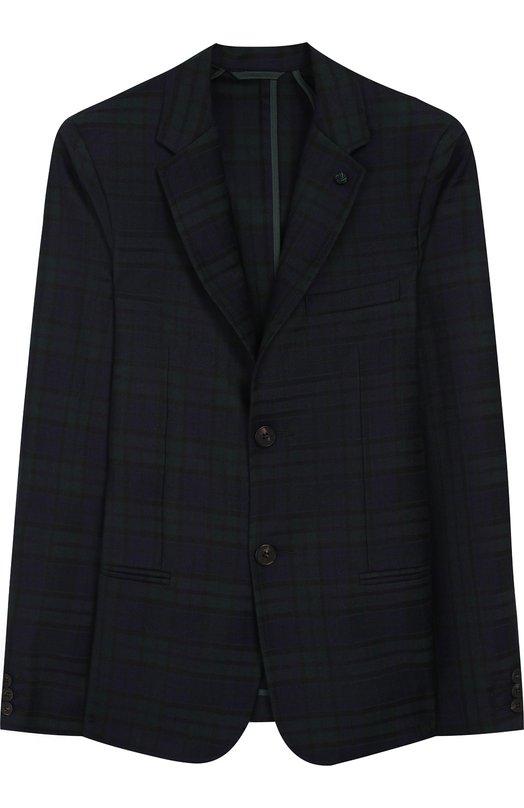 Шерстяной пиджак на двух пуговицах Dal Lago