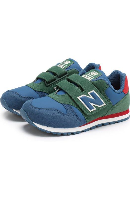 Купить Комбинированные кроссовки 373 с застежкой велькро New Balance, KV373PEY/M, Индонезия, Синий