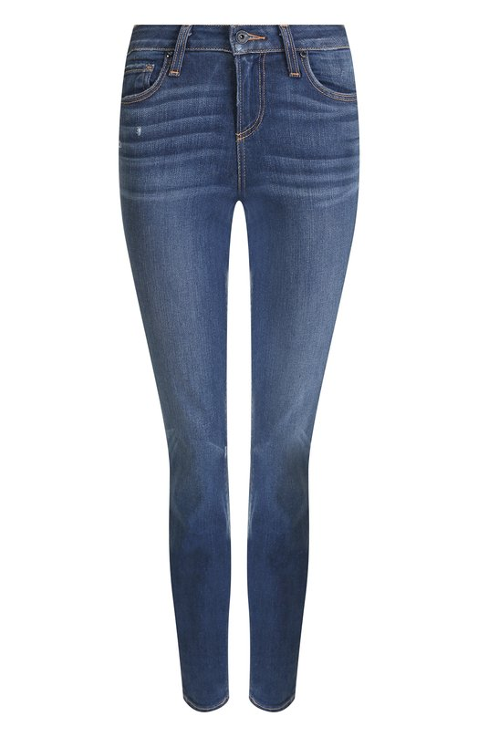 Купить Укороченные джинсы-скинни с потертостями Paige, 1394F46-5996, США, Синий, Хлопок: 92%; Полиэстер: 6%; Эластан: 2%;
