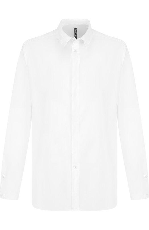 Купить Рубашка из смеси хлопка и льна с воротником кент Transit, CFUTRGW320, Италия, Белый, Хлопок: 93%; Лен: 5%; Эластан: 2%;