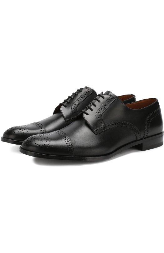 Купить Кожаные дерби на шнуровке с брогированием Bally, BR00KING/00/CALF, Швейцария, Черный, Подошва-Кожа: 100%; Подкладка-Кожа: 100%; Кожа: 100%;