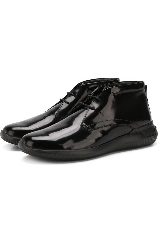 Кожаные ботинки на шнуровке Tod's