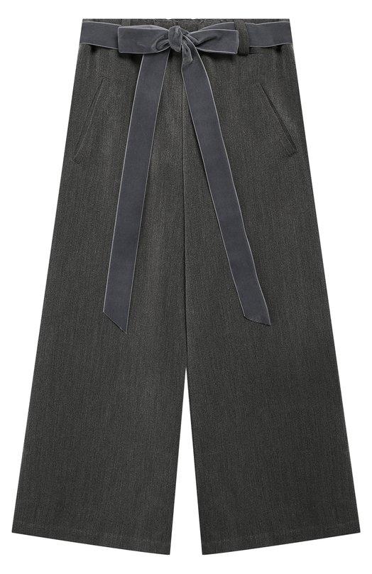 50-FP/9A-11A, Расклешенные брюки с поясом Caf, Италия, Серый, Вискоза: 50%; Полиэстер: 50%;, Женский, Брюки  - купить со скидкой