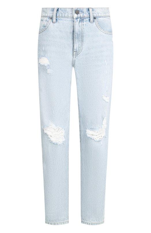 Купить Укороченные джинсы с потертостями Denim X Alexander Wang, 4D994220CK, Китай, Хаки, Хлопок: 100%;