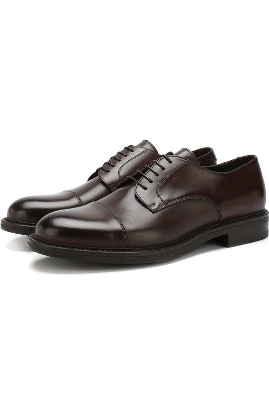 Купить Кожаные дерби Ferrara на шнуровке W.Gibbs, 3169012/CALF TEK, Италия, Коричневый, Подошва-Резина: 100%; Подкладка-Кожа: 100%; Кожа: 100%;