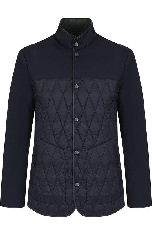 Купить Двусторонняя куртка на молнии с воротником-стойкой Z Zegna, VR029/ZZ133, Китай, Темно-синий, Полиамид: 100%; Подкладка-Полиамид: 100%;