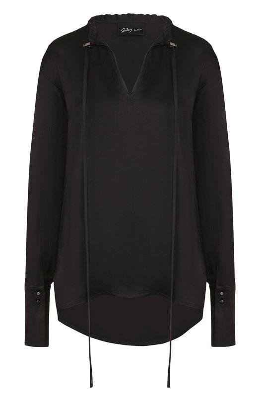 Купить Однотонная блуза свободного кроя Roque, RICY885/8, Италия, Черный, Вискоза: 100%;