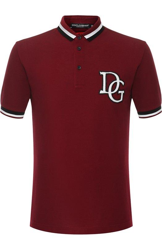 Купить Хлопковое поло с короткими рукавами Dolce & Gabbana, G8JF1Z/G7QAP, Италия, Красный, Хлопок: 100%;
