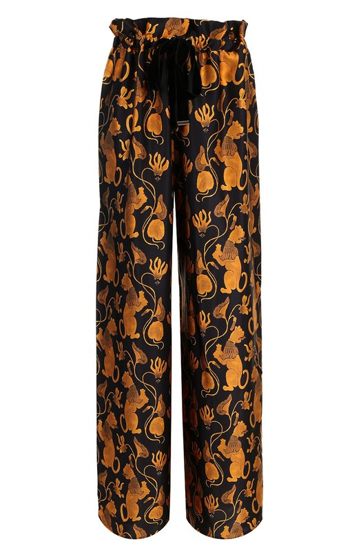 Шелковые брюки с принтом Mother Of Pearl, 4318 B L0TTIE, Португалия, Золотой, Шелк: 100%;  - купить