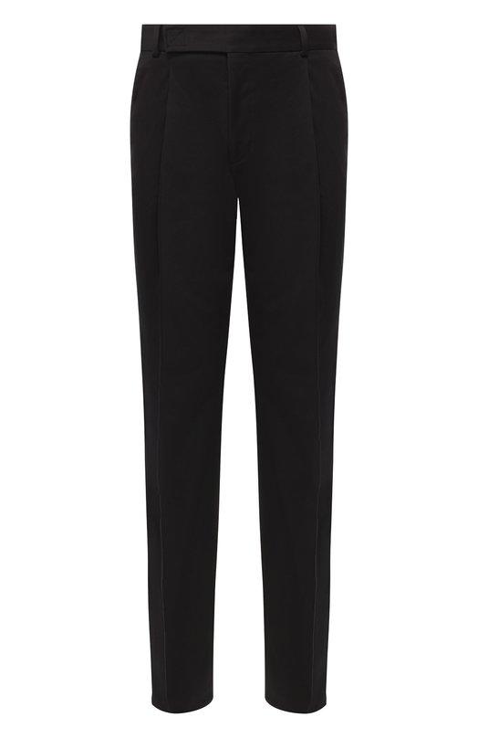 Купить Хлопковые брюки прямого кроя Fendi, FB0481 A4JJ, Италия, Черный, Хлопок: 98%; Эластан: 2%;