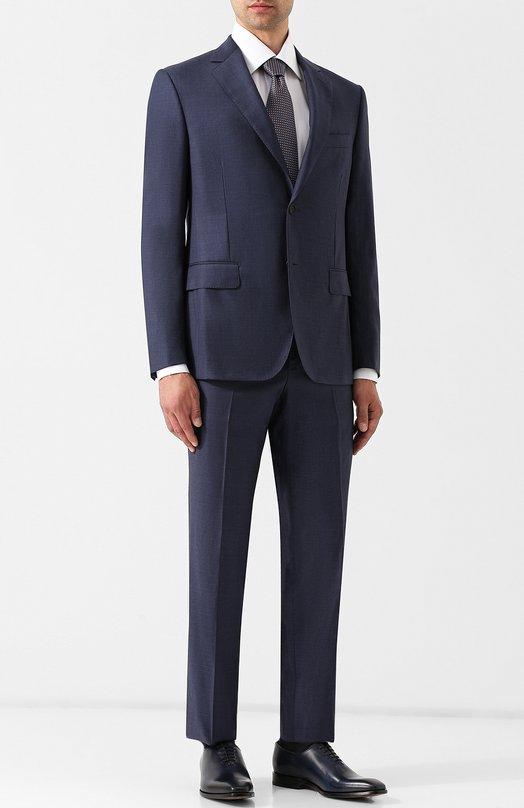 Купить Шерстяной костюм с пиджаком на двух пуговицах Pal Zileri, N33X022K2--41018, Италия, Синий, Шерсть: 100%;