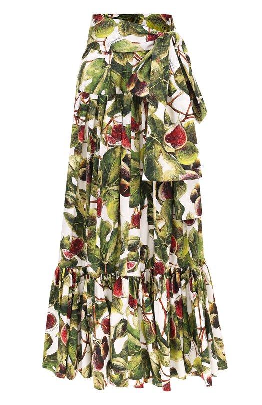 bd8e501bcca Укороченные брюки с ярким принтом и защипами Dolce   Gabbana